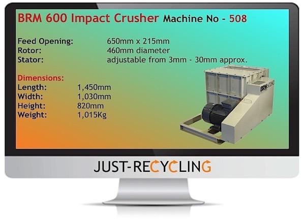 BRM 600 HD Impact Rotor Mill Crusher