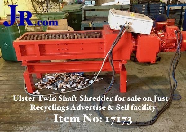X Twin Shaft Waste Shredder