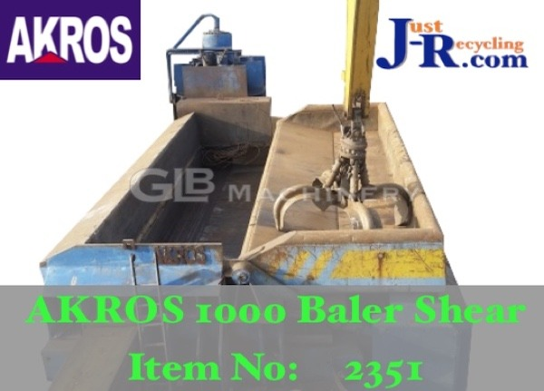 AKROS 1000T SCRAP METAL SHEAR BALER