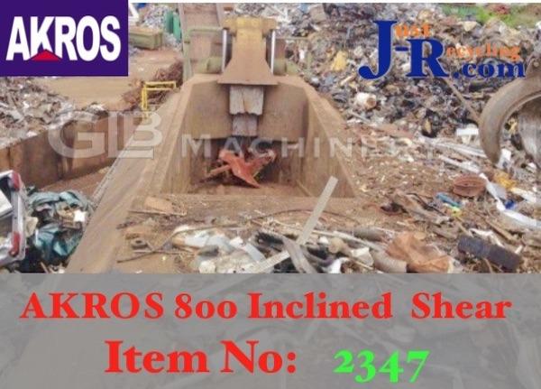 AKROS 800CIC Inclined Scrap Metal Shear