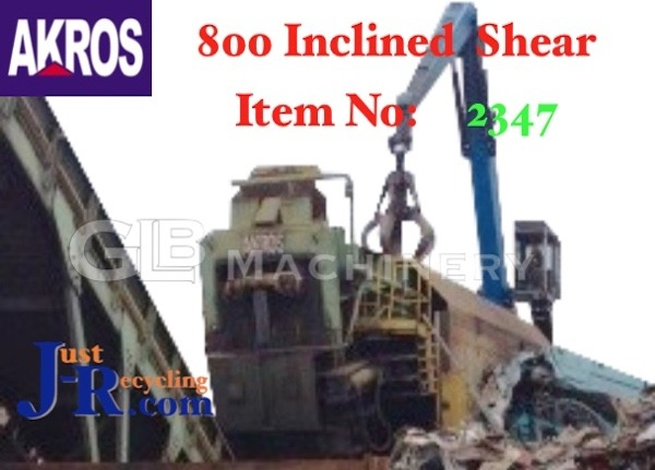 AKROS 800CIC Inclined Scrap Metal Shear