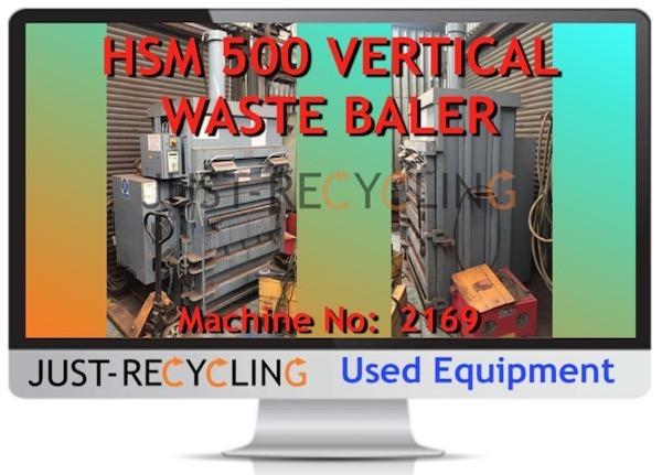 HSM 500 VERTICAL WASTE BALER