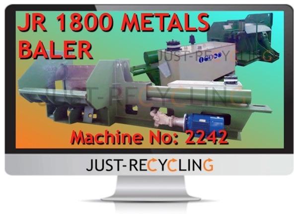 JR 1800 METALS BALER