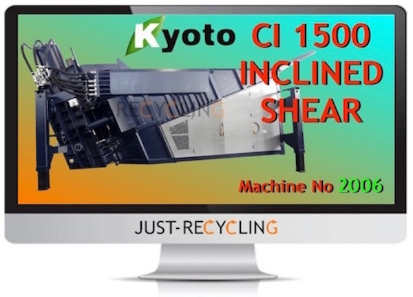 KYOTO CI 1500 INCLINED SCRAP METAL SHEAR