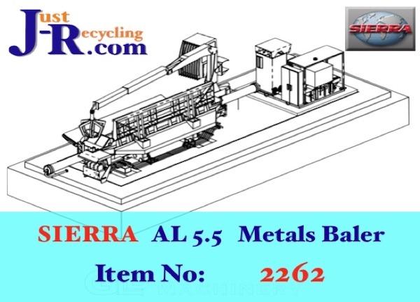 SIERRA AL5000 SCRAP METAL BALER
