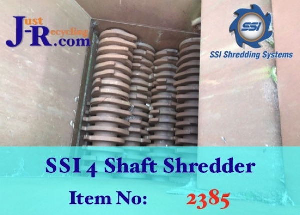 SSI 4 Shaft Waste Shredder