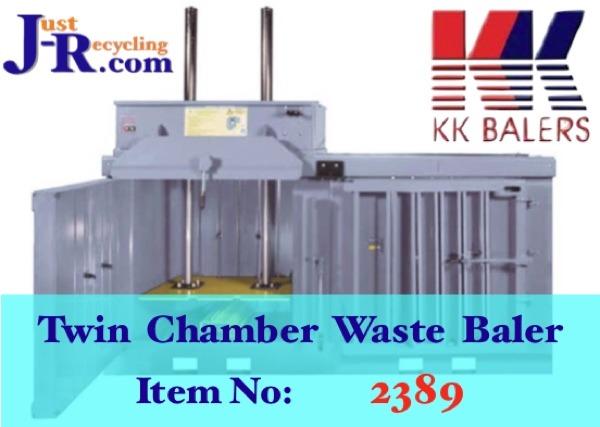 KK 20x20 TWIN CHAMBER WASTE BALER