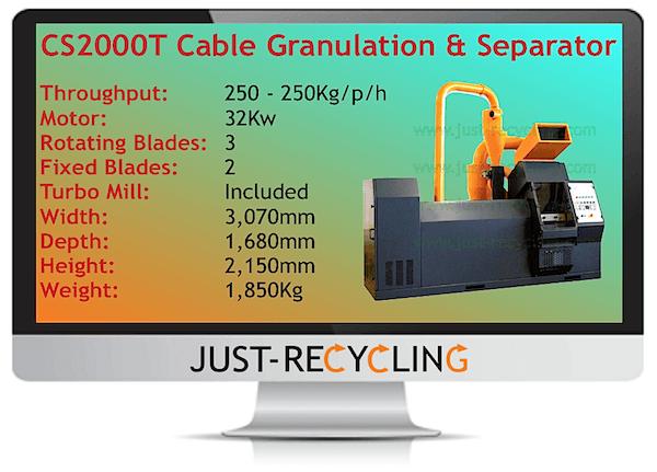 CS2000T Cable Granulator & Separator