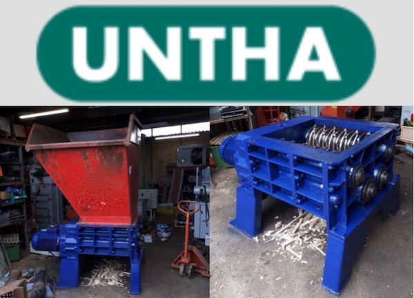 UNTHA RS40 4 Shaft Waste Shredder