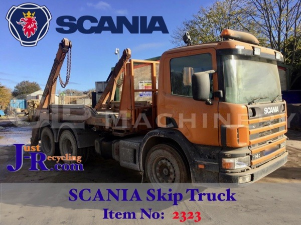 Scania P380 6 x 4 Skip Truck