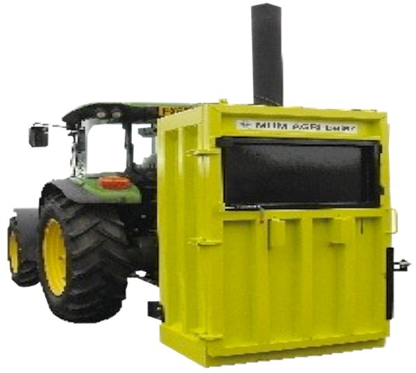 Tractor Mounted Vertical Waste Baler