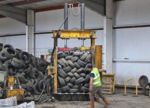 Envirotyre Tyre Baling at Just-Recycling