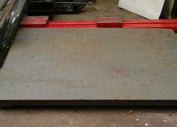 Platform Weighing Scales at Just-Recycling